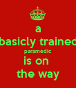 a basicly trained paramedic is on  the way - Personalised Poster large