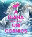 A DIANA GOSTA DE UNI CORNIOS - Personalised Large Wall Decal