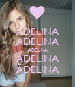 ADELINA ADELINA ADELINA ADELINA ADELINA - Personalised Large Wall Decal