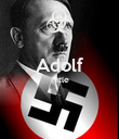 Adolf Hitle   - Personalised Poster large