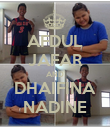 AFDUL JAFAR AND DHAIFINA NADINE - Personalised Poster large