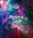 Agama  Islam   - Personalised Poster large