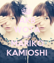 AKB WOTA AND MARIKO KAMIOSHI - Personalised Poster large