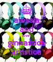 alessia and love  ginnastica artistica - Personalised Poster large