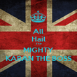 All Hail The MIGHTY KARAN THE BOSS - Personalised Poster large