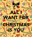 ALL I WANT FOR  CHRISTMAS IS YOU - Personalised Poster large