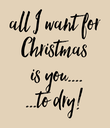 all I want for  Christmas  is you.... ...to dry!  - Personalised Poster large