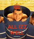ALL IZZ WELL - Personalised Poster large