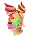 ALL YOU  NEED IS ICE CREAM - Personalised Poster large