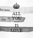 ALL YOU NEED IS LOVE - Personalised Poster large