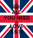 ALL YOU NEED IS LOVE 3.6.12 - Personalised Poster small