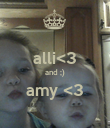 alli<3 and ;) amy <3  - Personalised Poster large