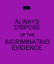 ALWAYS DISPOSE OF THE INCRIMINATING EVIDENCE - Personalised Poster large