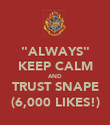 """""""ALWAYS"""" KEEP CALM AND TRUST SNAPE (6,000 LIKES!) - Personalised Poster large"""