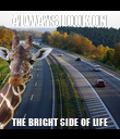 ALWAYS LOOK ON THE BRIGHT SIDE OF LIFE - Personalised Poster large