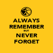 ALWAYS REMEMBER BUT NEVER FORGET - Personalised Poster large