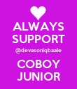 ALWAYS SUPPORT @devasoniqbaale COBOY JUNIOR - Personalised Large Wall Decal