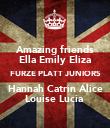 Amazing friends Ella Emily Eliza FURZE PLATT JUNIORS Hannah Catrin Alice Louise Lucia  - Personalised Poster large