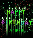 AMBER - Personalised Poster large