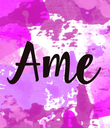 Ame - Personalised Poster large