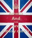 Amelia And Lucy are Smexy dino's  - Personalised Poster large