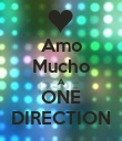 Amo Mucho A ONE DIRECTION - Personalised Poster large
