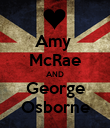 Amy  McRae AND George Osborne - Personalised Poster large