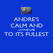 ANDRE'S CALM AND LIVING LIFE TO ITS FULLEST  - Personalised Poster large