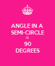 ANGLE IN A  SEMI-CIRCLE IS 90 DEGREES - Personalised Poster large