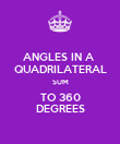 ANGLES IN A  QUADRILATERAL SUM TO 360 DEGREES - Personalised Poster large