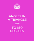ANGLES IN A TRIANGLE SUM TO 180 DEGREES - Personalised Poster large
