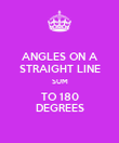 ANGLES ON A STRAIGHT LINE SUM TO 180 DEGREES - Personalised Poster large