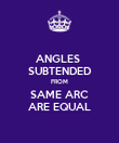 ANGLES  SUBTENDED FROM SAME ARC ARE EQUAL - Personalised Poster large