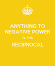 ANYTHING TO NEGATIVE POWER IS THE RECIPROCAL  - Personalised Poster large