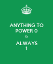 ANYTHING TO POWER 0 IS ALWAYS 1 - Personalised Poster large