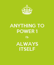 ANYTHING TO POWER 1 IS ALWAYS ITSELF - Personalised Poster large