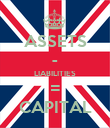 ASSETS - LIABILITIES = CAPITAL - Personalised Poster large
