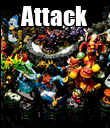 Attack  - Personalised Poster large