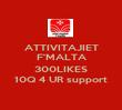 ATTIVITAJIET F'MALTA  300LIKES 10Q 4 UR support - Personalised Poster large