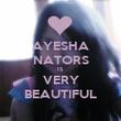 AYESHA NATORS IS VERY BEAUTIFUL - Personalised Poster large