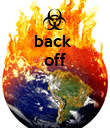 back  off    - Personalised Poster large