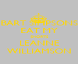 BART SIMPSONS EAT MY SHORTS LEANNE WILLIAMSON - Personalised Poster large