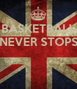 BASKETBALL NEVER STOPS    - Personalised Poster large