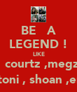 BE   A LEGEND ! LIKE   courtz ,megz   toni , shoan ,em - Personalised Large Wall Decal