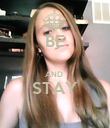 BE  AND  STAY  - Personalised Poster large