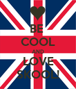 BE  COOL AND LOVE SKOOL! - Personalised Poster large