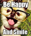 Be Happy And Smile - Personalised Poster large