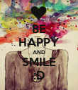 BE HAPPY AND SMILE :D - Personalised Poster large