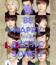 BE HAPPY be an EXOTIC SONELF - Personalised Poster large