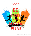 BE LOG AND HAVE FUN! - Personalised Poster large